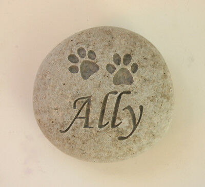 Paw Prinst Pet Memorial Custom Engraved Memorial Stone Pet Loss Personalized