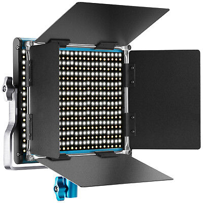Neewer Bi-color Luz Video LED Regulable 660 Perlas 3200-5600K con Barndoor