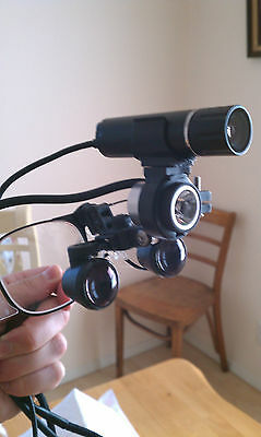 LOUPE VIDEO CAMERA HEAD MAGNIFICATION SURGERY RECORDER SYSTEM 8x TELEPHOTO LENS