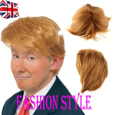 Donald Trump Wig Costume Accessory Billionaire Adult President Fancy Dress New Y