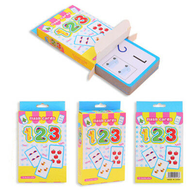 36 Flash Cards Learn English Spelling Number Literacy Game Educational Kids Gift