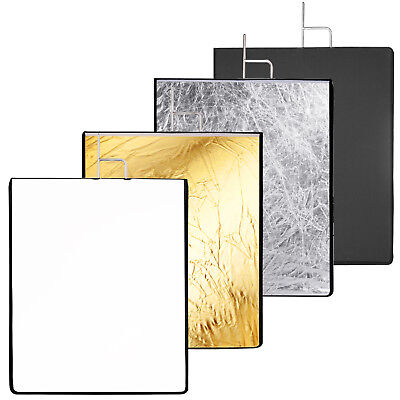 """Neewer 30x36"""" 4-in-1 Metal Flag Panel Set Reflector White Black Silver Gold"""