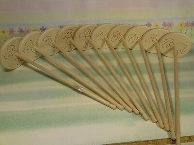 10x Hand Spindle Sheep Spindle 8x30cm 31g to Spiders from Wool Hand Spindle