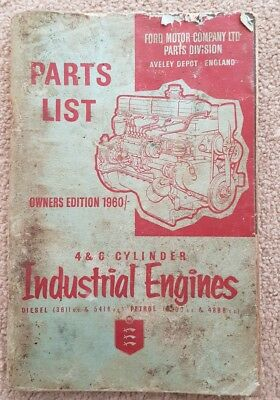 Ford 4 & 6 Cylinder Industrial Engine Parts Catalogue 1960