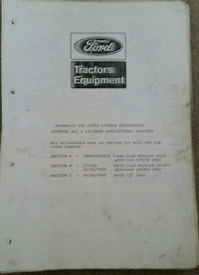 Ford 5600 6600 7600 Tractor Hydraulic System Info
