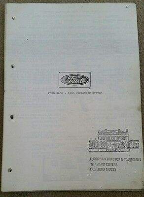 Ford 8600 9600 Tractor Hydraulic System Info