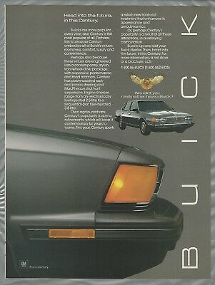 1986 BUICK CENTURY advertisement, Buick ad, Century sedan