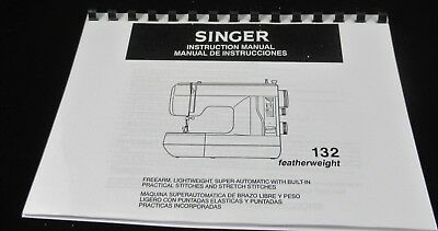 Singer Featherweight 132 Instruction Manual printed user guide A4 or A5