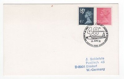 1976 GB Event Cover WELLINGTON FIRST FLIGHT 40th ANNIVERSARY Special Cancel BFPO