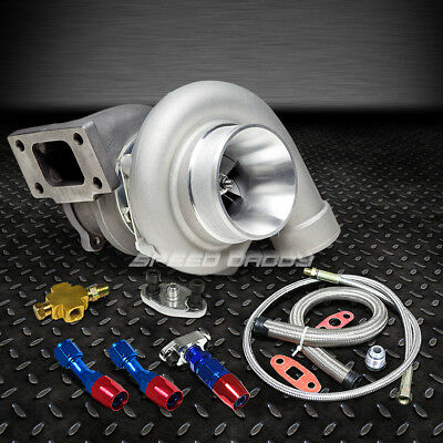 Gt35 Gt3582 Gt3540 Ar.70 Float Bearing 500+Hps Turbo Charger+Oil Feed+Drain Line