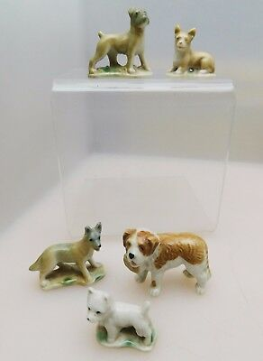 Complete Wade First Whimsies Set 7 Pedigree Dogs 1957 - 61 incl St Bernard, etc