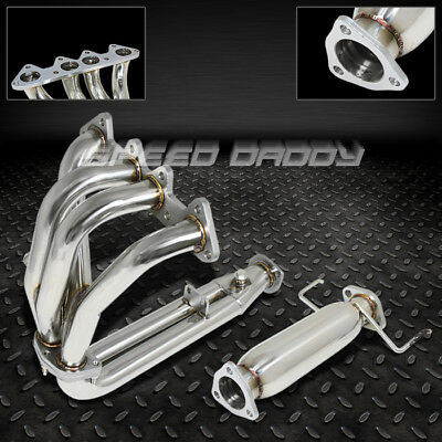 Stainless Racing Header Exhaust Manifold+Cat Pipe For 94-97 Honda Accord F22 2.2