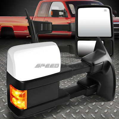 For 08-16 Ford F-Series Power+Heated+Amber Signal Led Towing Side Mirror Pair