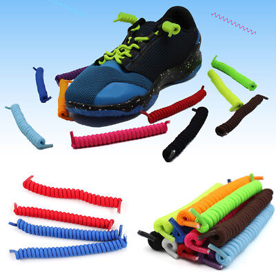 No Tie Flat Nylon Lazy Shoelace for Adult Trainers Sneakers Tieless Shoe Laces #