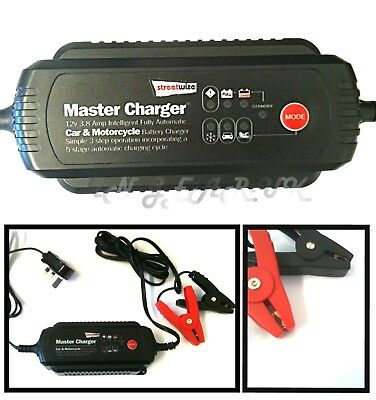 12v Intelligent Automatic battery charger Leisure marine caravan car boat camper