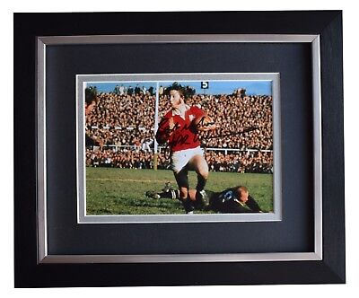JPR Williams Signed 10x8 Framed Photo Autograph Display Wales Rugby AFTAL COA