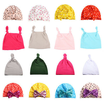 Baby Kids Boys Girls Stretchy Hat Cap Spring Beanie Lace Up Tie Up India's Hat