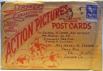 Lot Of 12 Signed Stryker's Postcards In Original Envelope! Rodeo Cowboys & Cowg