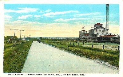 Sheridan To Big Horn, Wyoming, State Cement Highway, Vintage Postcard