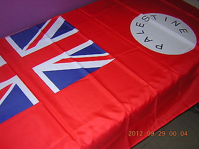 Pre 1948 British Empire British Palestine Mandate Gaza Red Flag Ensign 3ftX5feet