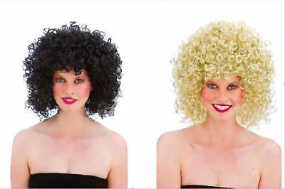 NEW 80's Disco Perm Wig - Ladies Short Curly Wig Fancy Dress Accessories