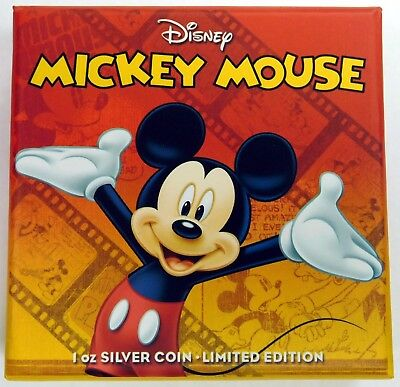 Niue 2014 $2 Disney Mickey & Friends 2014 Mickey Mouse 1 Oz Silver Proof Coin-b