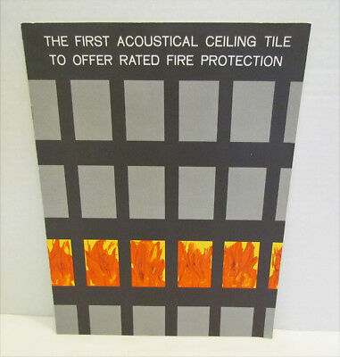ARMSTRONG ACOUSTICAL CEILINGS 1950's CONSTRUCTION INDUSTRY BROCHURE CATALOG