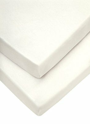 Moses Fitted Sheets, Cream, 30 X 68 Cm Pack Of 2