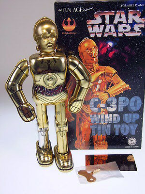 "GSR ROBOT GSCOM  ""STAR WARS C-3PO""  OSAKA TIN TOY, 25cm, NEU/NEW/NEUFn BOX  !"