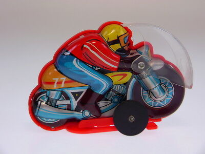 "GSMOTO  MOTORRAD ""RACE RIDER"", 12cm, WIND UP TURN OVER OK, NEUWERTIG/LIKE NEW/ !"