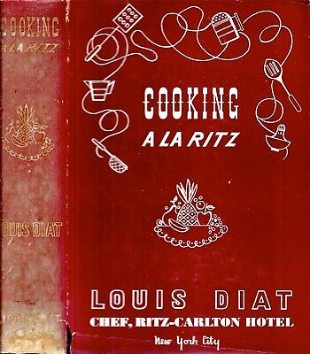 Rare 1941 Ritz-Carlton Hotel New York Cookbook With Dust Jacket Illustrated Gift