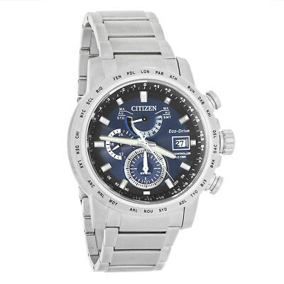 Citizen Eco Drive Mens A-T World Time Blue Dial Eco-Drive Watch AT9070-51L