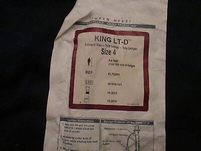 new King LT-D laryngeal tube size 4 ref kltd204 5-6 feet