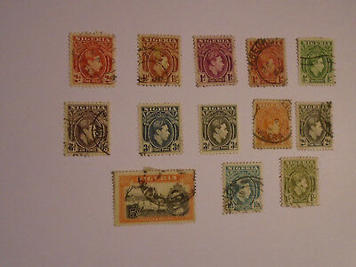 Nigeria George VI to 5/- collection  2