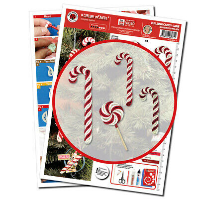 Quilling Template, Candy Cane