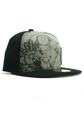f3e46713ef1 IRON MAN MARVEL Comics New Era Hat Fitted 59Fifty Size 7 1 2 NWT ...