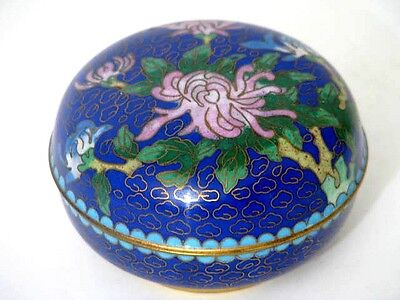 Bronze Messing Cloisonne Emaille Deckel Dose