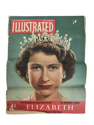 1952 Illustrated Magazine HRH Princess Elizabeth Now Queen Elizabeth II Cover