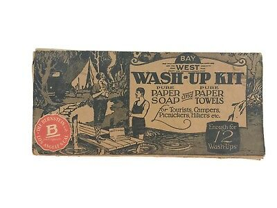 Vintage 1920 Bay West Wash-Up Kit Los Angeles Motorists Autos Campers Tourists
