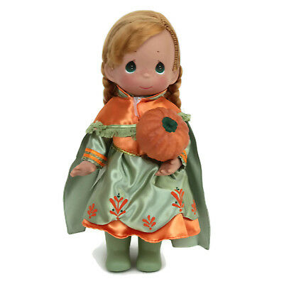 "Precious Moments Disney Parks Exclusive Anna Frozen Boo Green Halloween 12"" Doll"