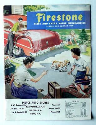 1953 FIRESTONE Vintage Merchandise & Products Catalog