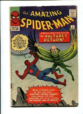 Amazing Spider-Man #7 VINTAGE Marvel Comic KEY 2nd Vulture App Silver Age 12c