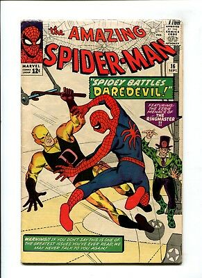Amazing Spider-Man #16 FN- Marvel Comic KEY 1st Daredevil Crossover Silver 12c