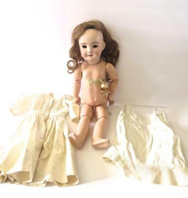Bebe Jumeau French Doll Restored Head Original Body Label for Parts Restore   #1