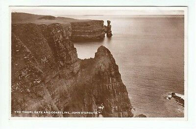 The Thurl Gate & Coastline John O'Groats Caithness Real Photograph M&L National