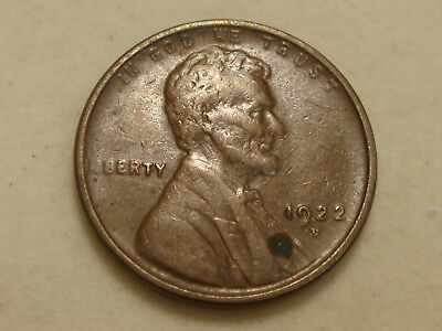 1922-D Lincoln Wheat Cent Choice VF details - corrosion spot