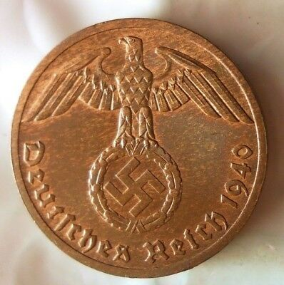 1940 F NAZI GERMANY REICHSPFENNIG - Collectible Coin - FREE SHIP - Nazi Bin 2