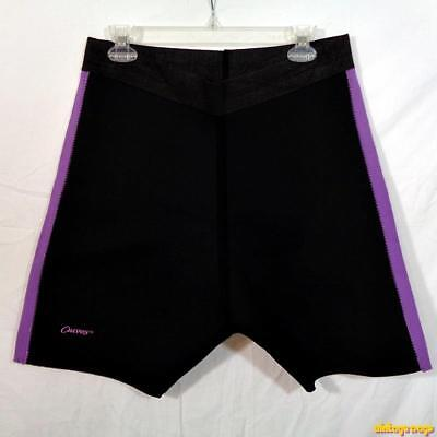 CURVES Neoprene Compression Trimming Shorts Womens Size 1X Black/purple
