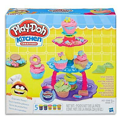 Play Doh Kitchen Creations Cupcake Set Modelling Dough Toys Games Kids 3