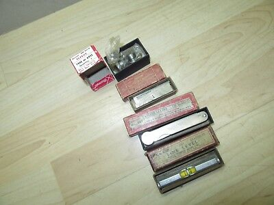 4 Vintage L S Starrett tools w/original boxes  parallels level Tapered leaves +